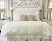 And They Lived Happily Ever After Quote Vinyl Wall Decal Home and Love Quote