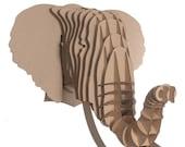 Elephant Eyan - Large Elephant Head - Brown African Animal Elephant Wall Art