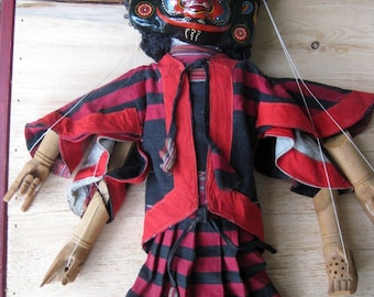 Bright & Colourful Vintage Puppet Marionette From Nepal