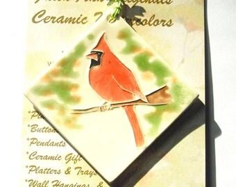 CARDINAL ORNAMENT 100% handmade ceramic  Makes great new home, family, hostess, welcome farewell gift under 25 Faith Ann Originals red bird