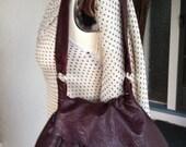 Mod Burgundy Leather Shoulder Bag.
