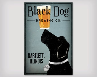 FREE CUSTOM Personalized LABRADOR Brewing Company Stretched Canvas Wall Art