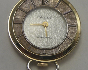 Vintage Watch Necklace Saxony Swiss Wind-Up Pendant Ladies Watch