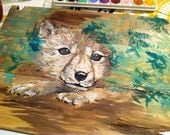 Wolf Painting, Reserved for Mandy