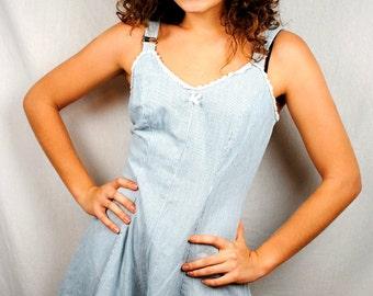 Vintage 80s Zanoni Jalate Cute Striped Summer Romper Dress