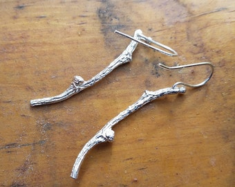 mini twig earrings sterling twigs silver branch earrings branches earrings nature inspired