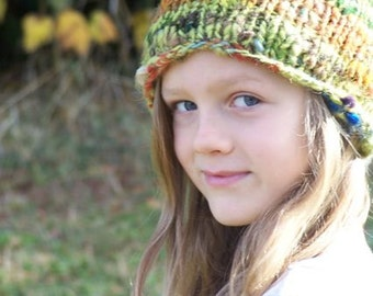 custom order-Warm Wooly Mountain Hat- Lime