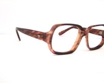 Tortoise Eyeglasses Mens 1960s 70s
