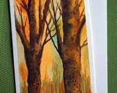 In Forest - Hand Painted Watercolor Greeting Card