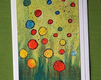 Fantasy -   Hand Painted Abstract Watercolor Greeting Card