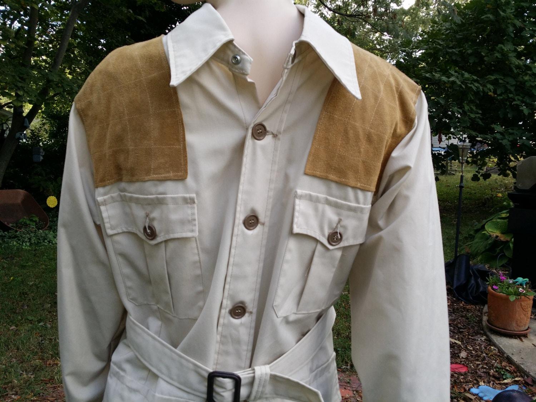 mens 70s jacket safari jacket vintage jacket with tags