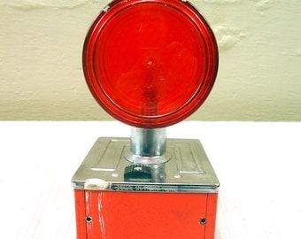 Vintage Industrial Red and Orange Flashing Light