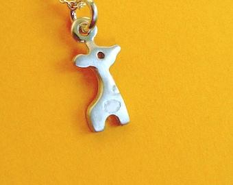 Tiny Giraffe Necklace Giraffe Charm Sterling Silver Teen Jewelry Kids necklace Giraffe necklace Giraffe pendant Birthday gift for girl