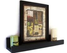 Wood Shelf  -  Shelf with Ledge - Picture Shelf - Book Shelf
