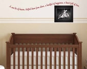 A Wee Bit of Heaven Drifted Down From Above A Handful of Happiness A Heart Full of Love wall decal, nursery vinyl lettering (W00104)