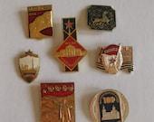 Vintage Soviet Enamel Pins