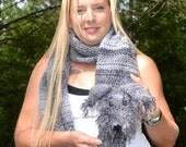 """Irish Wolfhound Scarf """"Maggie"""" Crochet Pattern PDF File"""