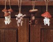 Set of FOUR Handmade OOAK Mushroom Littles. You Choose Which!