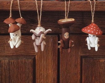 Set of FOUR Handmade OOAK Mushroom Littles. You Choose Which!
