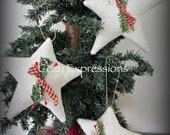 Primitive Christmas Star Ornaments