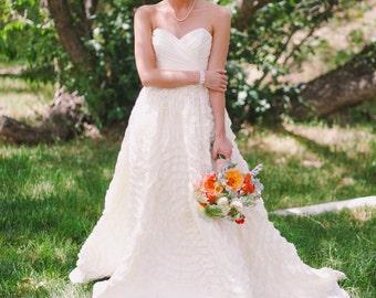 Ruffle Style Wedding Dress - Dahlia Inspired