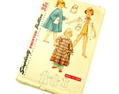 Childs Size 6 Robe in Three Lengths with Bunny Transfer 50s Simplicity Pattern 4503 / Complete