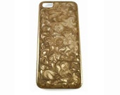 Iphone Case Hand Painted Enamel Taupe Swirl Design with a Glossy Finish Personalized and Color Options Available