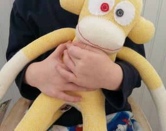 Yellow Rockford Red Heel Sock Monkey