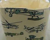 Storage Bin, toy storage, laundry hamper, Premier Prints Vintage Airplane