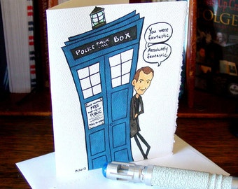 Doctor Who Card - Ninth Doctor - You're Fantastic