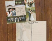 Wedding Thank You Cards or Magnets - rustic collage - 6 photos  - postcard option