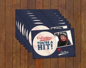 Baseball Valentines Day Cards -- trading cards or mailing card perfect for school & daycare