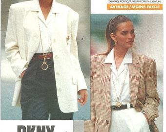 Vogue 2373 // Vintage Designer Sewing Pattern By Donna Karan DKNY // Jacket Blazer // Size 6 8 10