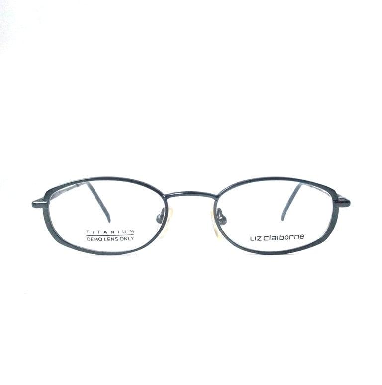 vintage 1990\'s NOS liz claiborne eyeglasses gunmetal metal wire ...