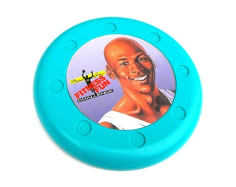 1991 Michael Jordan Frisbee Retro McDonalds Happy Meal Fitness Fun Challenge Chicago Bulls National Basketball Association NBA Air MJ Bball