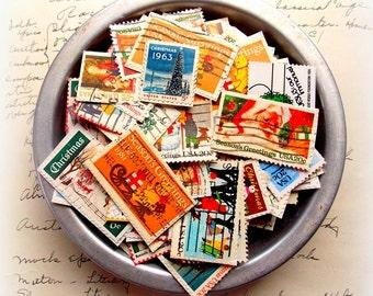 Vintage Christmas Postage Stamps  / Lot of 20