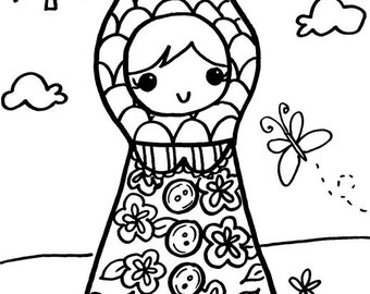 babushka coloring pages - photo#34