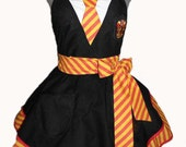 House Colors Cosplay Apron - Gryffindor *Made to order*
