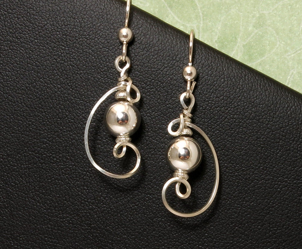 sterling silver small dangle earrings argentium 935 silver
