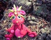 Polymer Clay Dragon 'Ruby' - Limited Edition Collectible