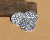 Sterling Silver Disc 24g 15mm Disc Field of Flowers Pattern Blank Cutout for Shapes Enameling Metal Blanks Shape Form - 925