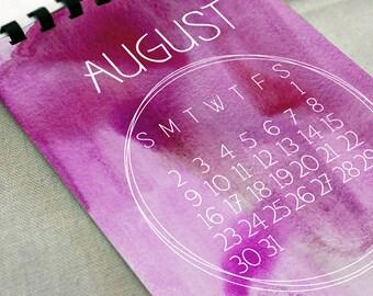 2017 Watercolor Calendar - Desk Calendar, Comb Bound, Wall Calendar, or Single Pages