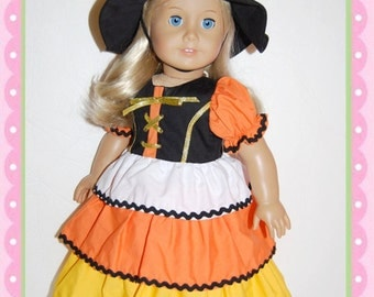 "Sale-American Girl 18"" Doll Candy Corn Witch"