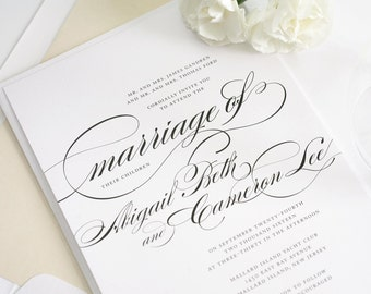 Traditional Wedding Invitations - Marriage Design Sample
