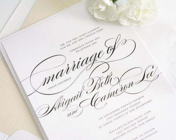 Traditional Wedding Invitations - Marriage Design Sample