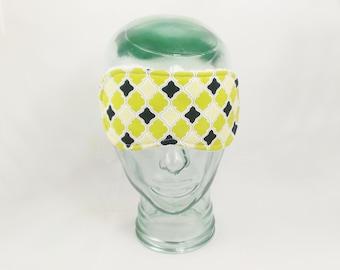 Quatrefoil Sleep Mask Eye Shade Blindfold Green