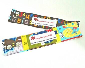 Toddler Medical Alert Bracelet Safety ID for Children - Choose One