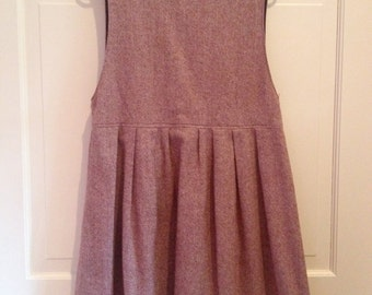 80s Mauve Tweed Wool Jumper Dress