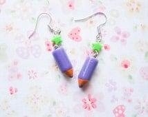 Pencil Crayon Earrings, Kawaii Earrings, Cute Earrings, Pencil Earrings, Crayon Earrings, Punk Earrings, Fun Earrings, Cute Gift Idea