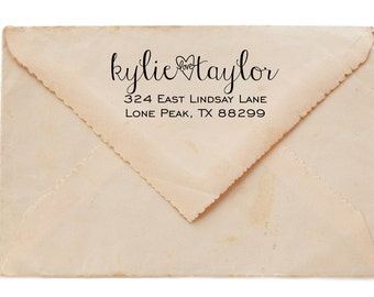 Custom Wooden  Return Address Stamp s1